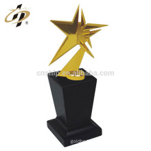 China low price high quality star shape custom gold metal trophy