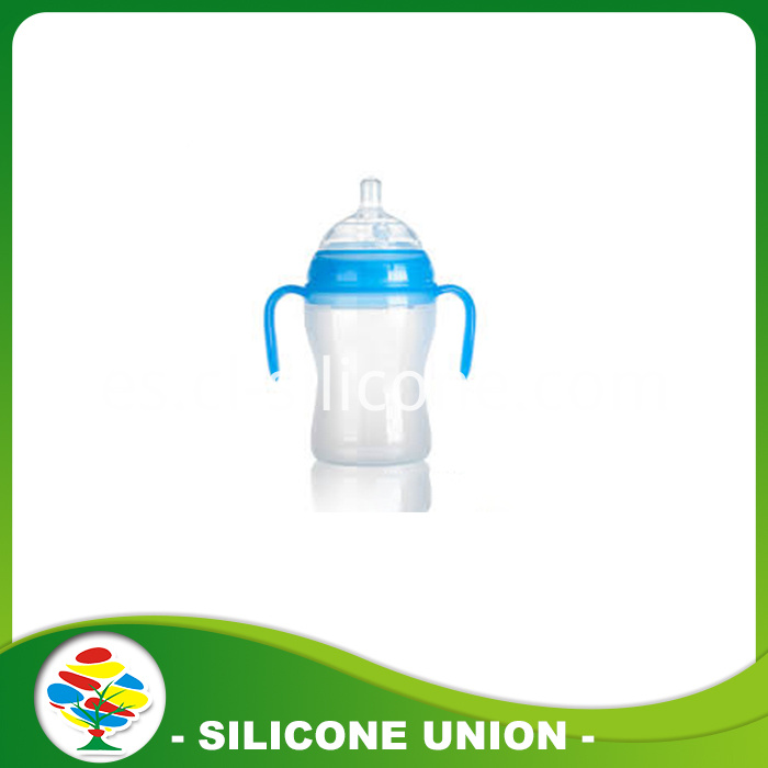 Silicone nipple bottle