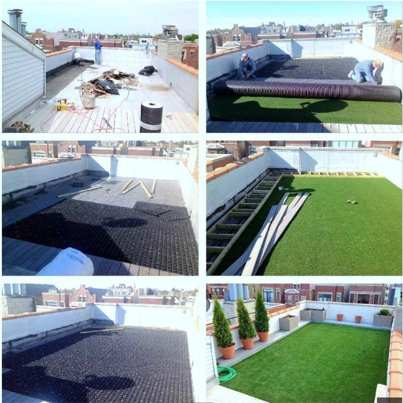 construction for roof garden