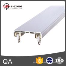 Rail à double rideau en PVC