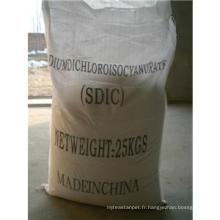 Piscine Nettoyage chimique; Dichloroisocyanurate de sodium (SDIC) 56% 60%