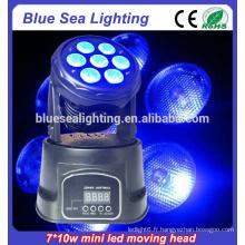 Nouveau 7x10w rgbw 4in1 lumières de tête en mouvement à vendre
