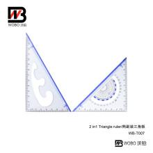 School Triangular Plastic Ruler Set for Office Stationery