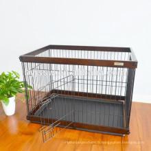 Caisse en bois stockée d'animal de compagnie, maison en bois d'animal familier et chenil à vendre
