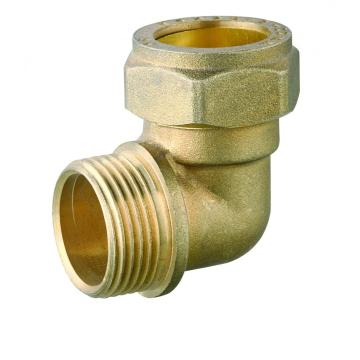 Forged brass male fitting brass compression fitting