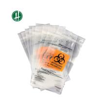Biologisch abbaubare medizinische Transport-Biohazard-Tasche mit Druckverschluss