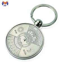 Metal custom 100 year calendar key chain