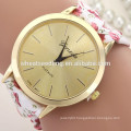 Hot selling Fabric cloth band flower watch woman geneva