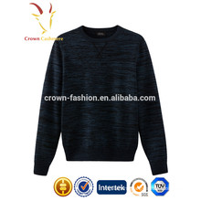 Men cashmere knitted pullover winter jersey stripe printed pullover