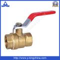 Válvula de bola de latón de presión baja presión (YD-1008)