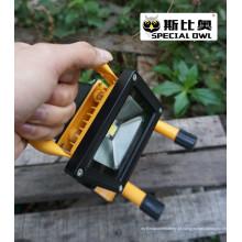 5W COB Super Bright LED Flood Light, luz de trabalho, recarregável, portátil ao ar livre, lâmpada de inundação / projeto, IP67