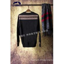 Мужская круглый шеи Кашемировый Жаккард пуловер
