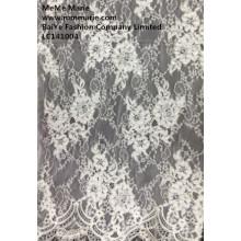 Marfim africano terno de renda de veludo mais barato on-line embroidery flor tecido laço LC141004