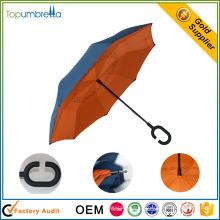 empresa na china Tecido duplo camada guarda-chuva reverso legal para venda