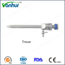 Laparoscopic Instrument Reusable Magnetic Flap Valve Trocar