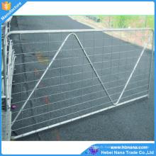 porte de clôture de ferme de panneau de barrière de bétail résistante galvanisée par immersion chaude pour le bétail