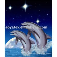 Cobertor de vison-golfinho