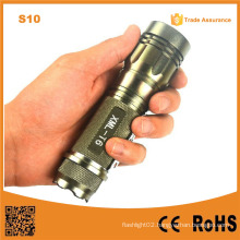 S10 Gold 400lumen Aluminum Rechargeable Zoom Easy Carry Adjustable Mini LED Flashlight