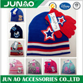 Cool printing hats gloves for kids