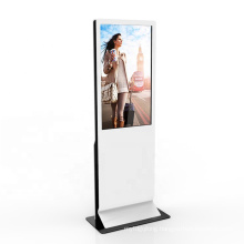 Android or Windows 55 inch lcd floor stand advertising equipments player display touch screen digital signage