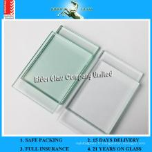 Verre transparent élevé de 1,3 à 19 mm avec CE SGS AS / NZS2208: 1996 (1,3-19 mm)