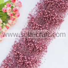 Purple Like Sweetened Bean Paste Faux Pearl Garland With 3+8MM Beads