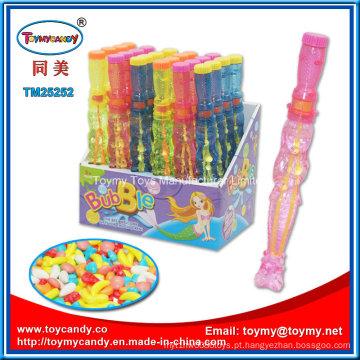 Bolha de sabão varinha brinquedo bolha Candy Stick água brinquedo