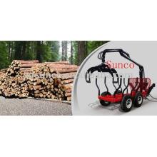 Mini Log Trailer para 20 ~ 40HP Tractor (ZM3004)