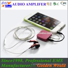 Amplificador de áudio placa de circuito amplificador de auscultadores amplificador de bateria recarregável