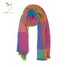Écharpe en cachemire d'hiver à carreaux pour femmes / châles écharpes douces oversize