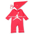 2016 wholesale long sleeve soft cotton in stock baby rompers for baby girls