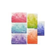 Ensemble de cartes de remerciement vierges sur l'aquarelle à l'intérieur comprend des enveloppes 4 x 6 pouces