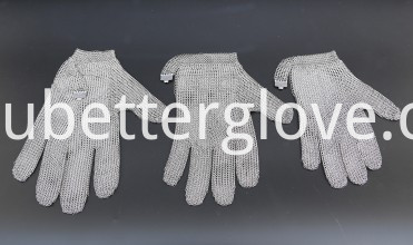 zhonghe hand safe five finger protection metal mesh gloves