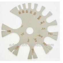 2015 alta calidad arcylic material cuerpo calibre rueda piercing anillo herramientas de medición