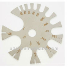 2015 high quality arcylic material body gauge wheel piercing ring measuring tools