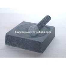 granite square mortar and pestle polished