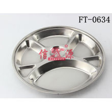 Stainless Steel Round Fast Food Tray (FT-0634)