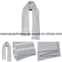 Damen Pure Cashmere Schal mit Streifen