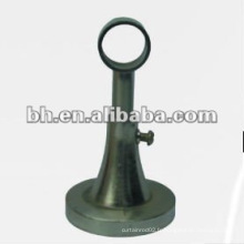Support en tôle de rideau en métal bronze et métal, support en acier unique en acier inoxydable