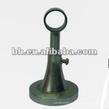 Бронзовый металлический стержень с одиночным карнизом для карнизов, стальная одинарная декоративная карнизная штанга