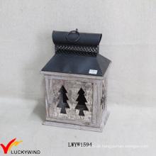Antique Small Bark Brown Kerze Laternen Lieferanten