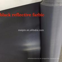 100% Polyester Schwarz Reflektierendes Gewebe