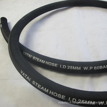 Un fil d'acier plié Tressé Renforcé Wrapper EPDM Steam Rubber Hose