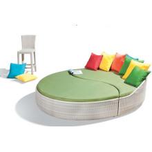Nuevo jardín aluminio playa mimbre al aire libre una cama