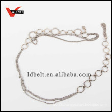 Fashion metal chain ladies belt