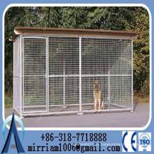 Fabricante al por mayor de malla de alambre soldado de gran jaula de perro / perro perreras