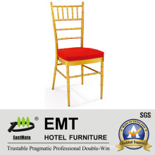 Металлический штабелирующий банкет Стул Chiavari для свадебной и гостиничной мебели (EMT-809-1)