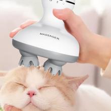 Masajeador de cuero cabelludo de gato Masajeador de mano para mascotas