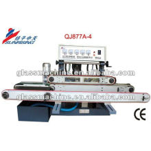 QJ877A-4 горизонтальной прямой линии малых стекла, шлифовальный станок с 4 колесами