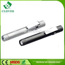Liga de alumínio 1 levou lanternas caneta forma tocha luz